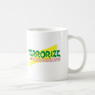 Terrorise  d terrorist basic white mug