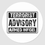 Terrorist Advisory Round Sticker