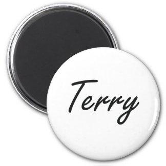 Terry Artistic Name Design 6 Cm Round Magnet