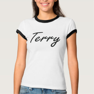 Terry Artistic Name Design Tshirts