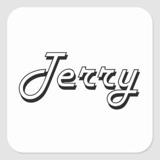 Terry Classic Retro Name Design Square Sticker
