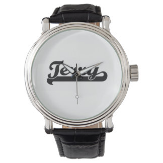 Terry Classic Retro Name Design Wrist Watch