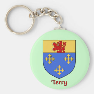 Terry Family Shield Keychain