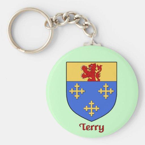 Terry Family Shield Keychain