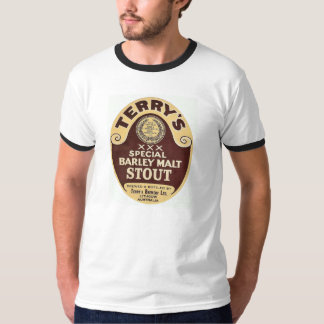 Terry's Stout Vintage Beer Label Tshirt