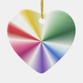 Tertiary Pastels Contrasting Points 'N Cones Ceramic Heart Decoration