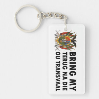 Terug na die ou Transvaal: Suid Afrika (Boer) Rectangle Acrylic Key Chain