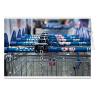Tesco trolley card