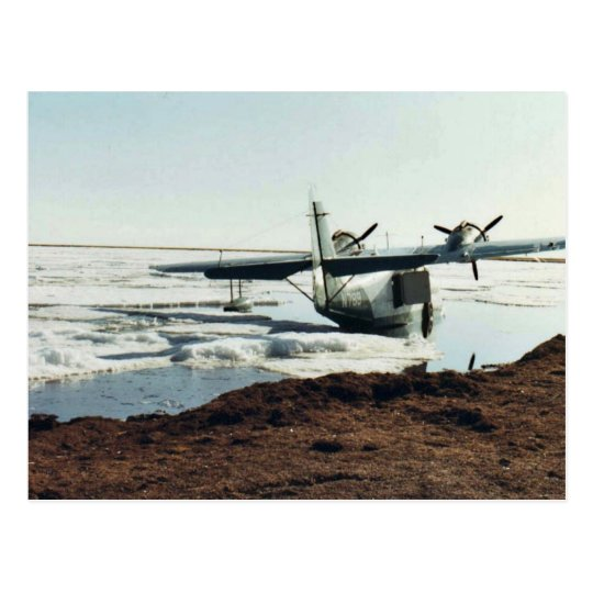 Teshekpuk Lake, Sea Plane, and Camp Postcard