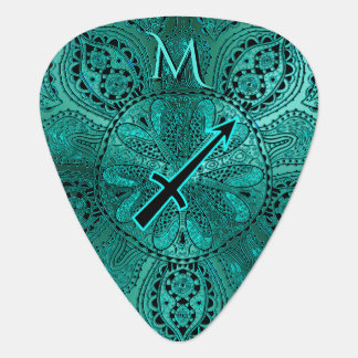 Tesl Zodiac Sign Sagittarius Mandala Guitar Pick