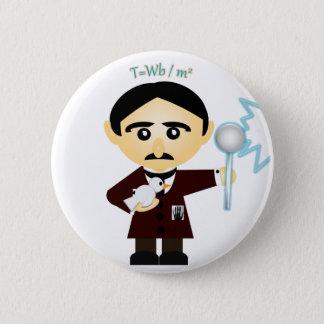 Tesla 6 Cm Round Badge