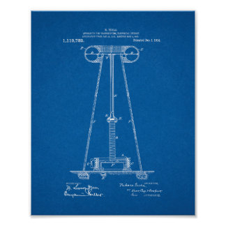 Tesla Apparatus For Transmitting Electrical Energy Poster