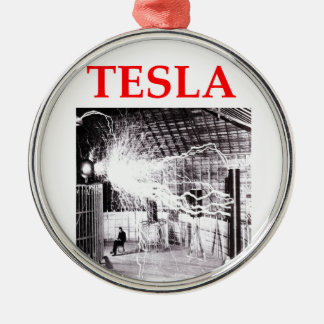 tesla christmas ornament