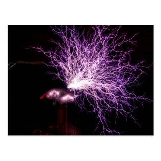 Tesla Coil Plasma Postcard