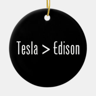 Tesla > Edison Christmas Ornament