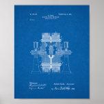 Tesla Electric Circuit Controller Patent - Bluepri Posters