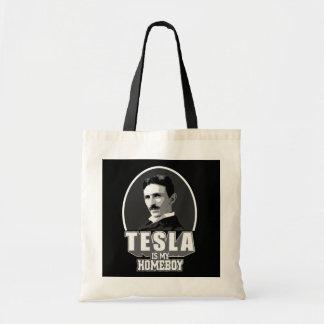 Tesla Is My Homeboy Tote Bag