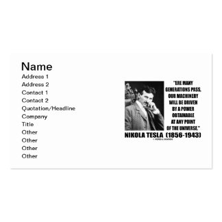 Tesla Our Machinery Driven Power Obtainable At Any Business Card Templates