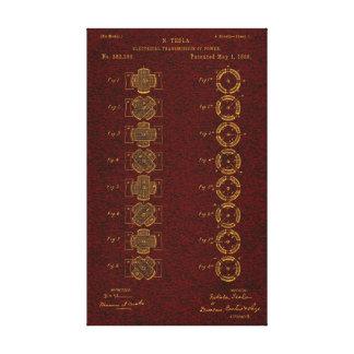 Tesla Patent 00382280 Sht 1 Canvas Print