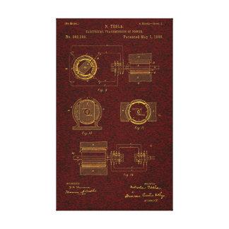 Tesla Patent 00382280 Sht 2 Gallery Wrap Canvas