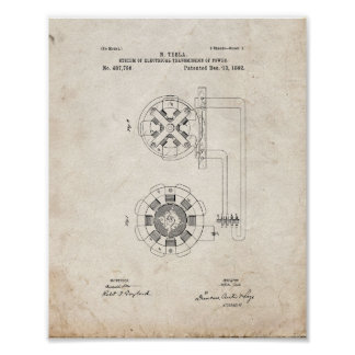 Tesla System Of Electrical Transmission Patent - O Posters