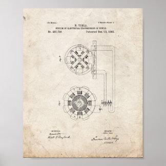 Tesla System Of Electrical Transmission Patent - O Poster