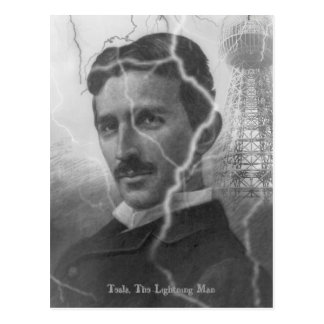 Tesla, The Lightning Man Postcard
