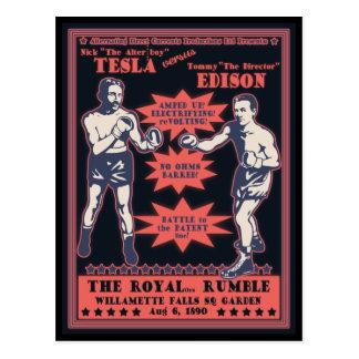 Tesla v. Edison Postcard