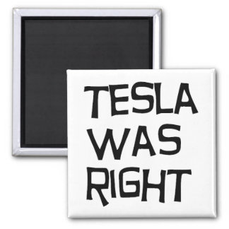 Tesla was right square magnet