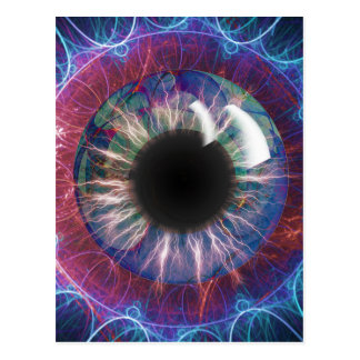 Tesla's Eye Fractal Design Postcard