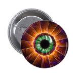 Tesla's Other Eye Fractal Art 6 Cm Round Badge