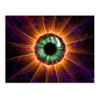 Tesla's Other Eye Fractal Art Postcard