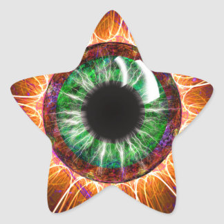 Tesla's Other Eye Fractal Art Stickers