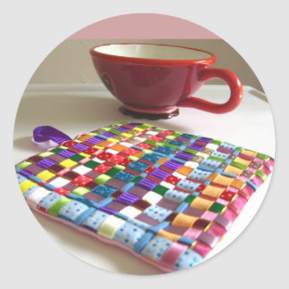 Tessa Ribbons of Color Woven Trivet Stickers