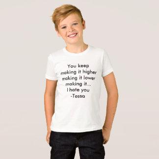 Tessa shirt quote