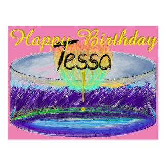 Tessa's 2016 Birthday Cake Postcard