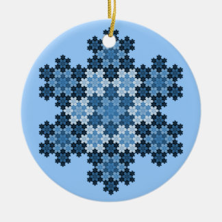 Tessellated Koch Snowflakes Christmas Ornament