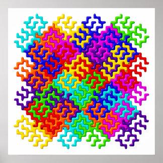 Tessellation Pattern Poster / Wall Art