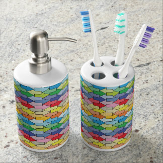 Tessellations Soap Dispenser And Toothbrush Holder