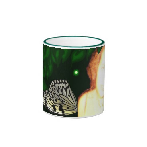 Tessie Fairy Green 11 oz Ringer Coffee Mug