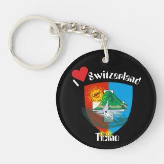 Tessin - Ticino - Switzerland - Svizzera Double-Sided Round Acrylic Key Ring