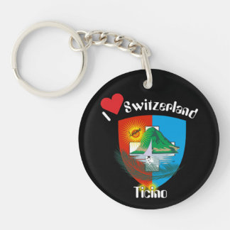 Tessin - Ticino - Switzerland - Svizzera Double-Sided Round Acrylic Key Ring
