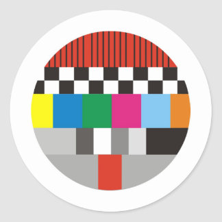 Test Pattern Design Round Stickers