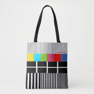 Test Pattern Inspired Tote Bag