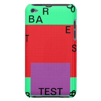 Test touch 14+ template fields barely there iPod case