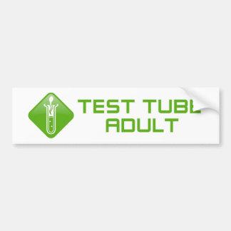 Test Tube Adult Bumper Sticker