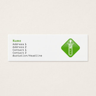 Test Tube Adult Profile Card Template