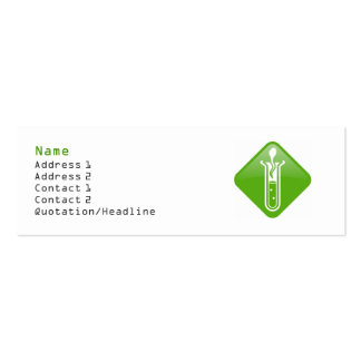 Test Tube Adult Profile Card Template Pack Of Skinny Business Cards