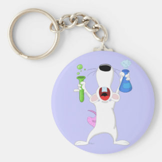 Test Tube Lab Rat Keychain