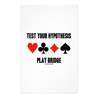 Test Your Hypothesis Play Bridge (Card Suits) Personalised Stationery